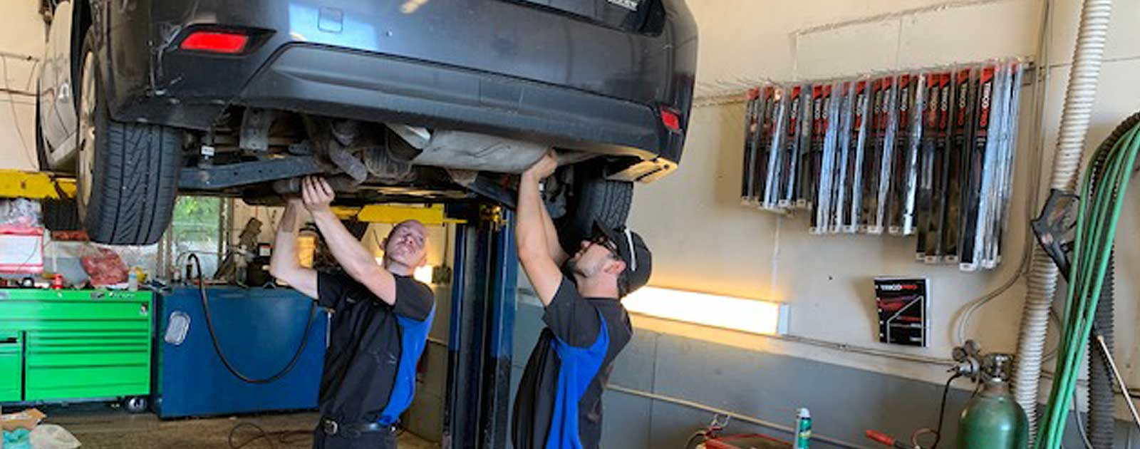 Mechanics at Bourne's Service Center