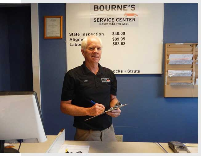 Service writer at auto repair shop - Bourne's Service Center